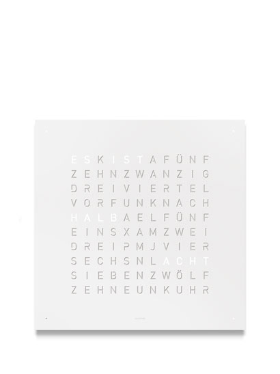 QLOCKTWO - QLOCKTWO Classic - WHITE PEPPER Deutsch